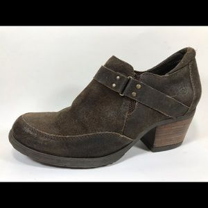 Born Suede Leather Ankle Boots 10M